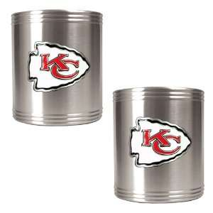 Kansas City Chiefs NFL 2pc Stainless Steel Can Holder Set
