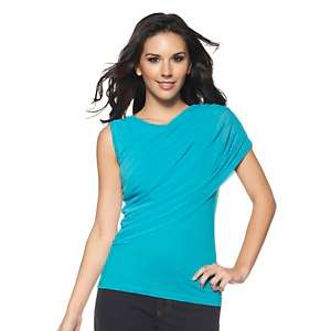 IMAN Global Chic Style Diva Draped Glamour Top