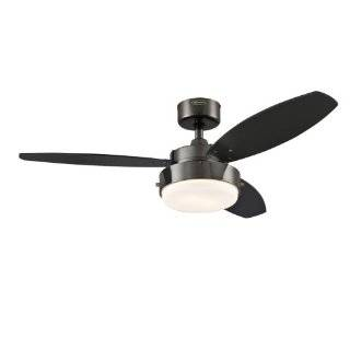 Indoor Ceiling Fan, Chrome with Opal Frosted Glass