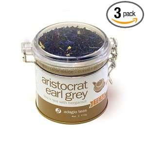 Adagio Teas Aristocrat Earl Grey, 4 Ounce Tins (Pack of 3)