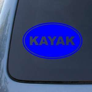 KAYAK EURO OVAL   Vinyl Car Decal Sticker #1724  Vinyl