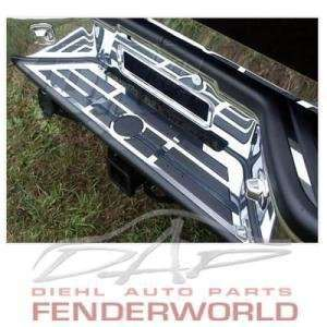 NISSAN TITAN 04 07 CHROME STEEL REAR BUMPER STEP TRIM Automotive