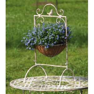 Antique White Hanging Basket With Legs Patio, Lawn & Garden