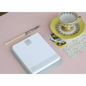Letterpress Monogram Note Card Set D Health & Personal