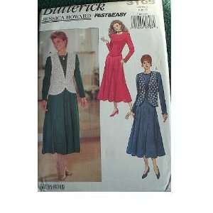 VEST & DRESS SIZES 6 8 10 BUTTERICK JESSICA HOWARD FAST & EASY PATTERN