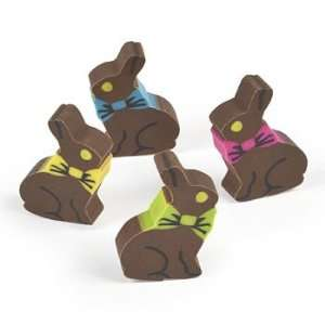 Chocolate Bunny Erasers   Basic School Supplies & Erasers