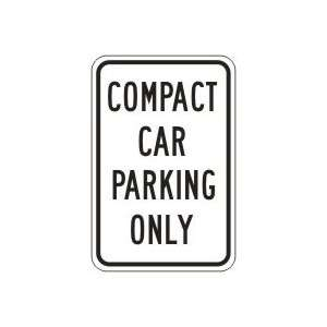 CAR PARKING ONLY (BLACK/WHITE) 18 x 12 Sign .080 Reflective Aluminum