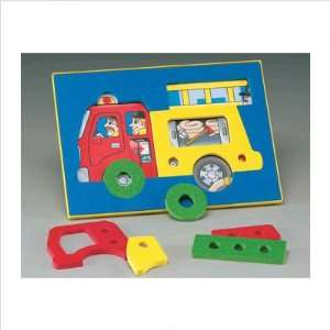 Fire Truck See Inside Puzzle Toys & Games