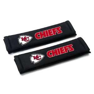 NFL Kansas City Chiefs Car Seat Belt Shoulder Pads, Pair Automotive
