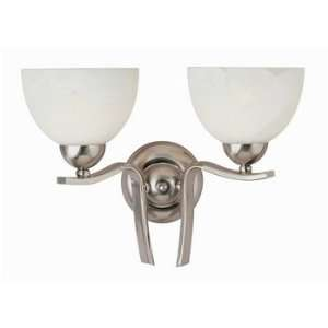 Trans Globe 2 Light Frosted Glass Wall Sconce