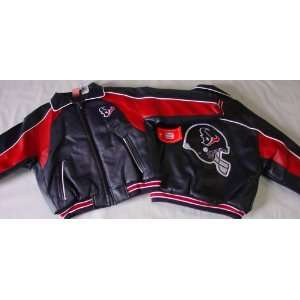 NFL Houston Texans Kids Pleather Jacket, Small 4  Sports