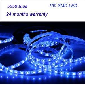 Light Strip 150 LED 5050 SMD Blue Non waterproof LED Ribbon 5 Meter