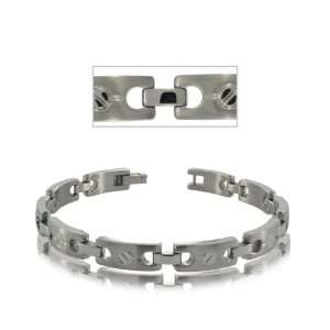 Mens Bracelet Stainless Steel with Screw Links New