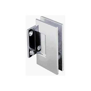 Series Satin Chrome Wall Mount Short Back Plate Hinge (Standard Model