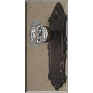 24% Lead Crystal OLD TOWN & Oil Rubbed Bronze Egg&Dart French Door