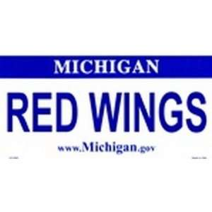 Michigan State Background License Plates   Red Wings Plate