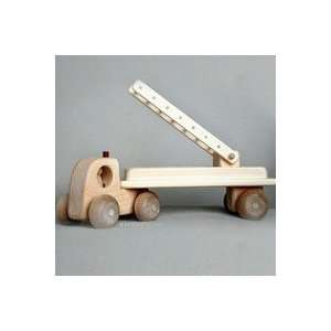 Wooden Toy Fire Truck Toys & Games
