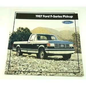 1987 87 Ford F SERIES PICKUP Truck BROCHURE F150 F250