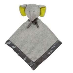 Plush Baby Toy Security Blanket Snuggle Buddy Lovie Rattle Elephant by