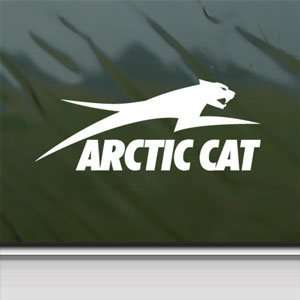 Arctic Cat White Sticker Snowmobile Car Vinyl Window