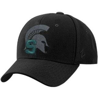 NCAA Zephyr Michigan State Spartans Black Vortex Fitted Hat