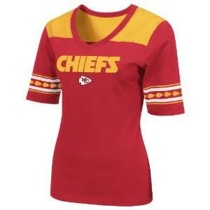 NFL Kansas City Chiefs All You Got 1/2 Sleeve V Neck Tee