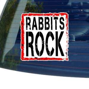 Rabbits Rock   Window Bumper Laptop Sticker Automotive