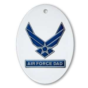 Ornament (Oval) Air Force Dad
