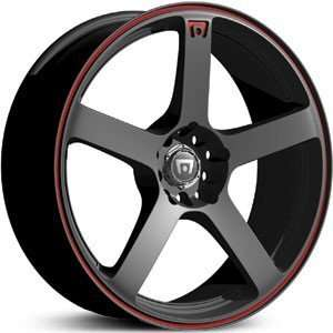 16 x 7 inch Motegi Racing Mr116 wheels black with red strip 4x100 +40