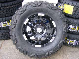 Moto Metal 951 Black Machine 18 Nitto Mud 33x12.50 18
