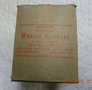 US Army Medical Department Muslin Bandages