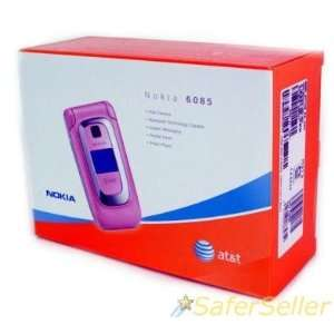 New ATT AT&T PINK NOKIA 6085 QUADBAND/GSM CELL PHONE Electronics