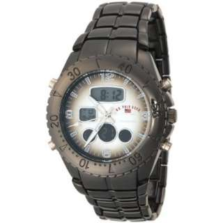 Polo Assn. Mens US8139 Gun Metal Analog Digital Sporty Bracelet